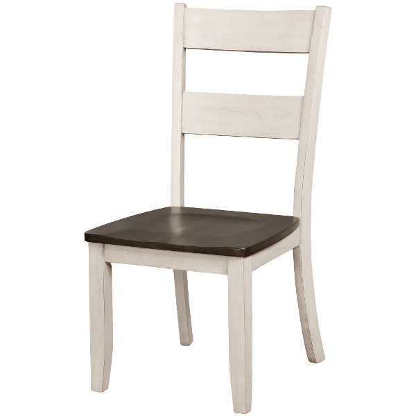 Brown And White Dining Chair   Perrin