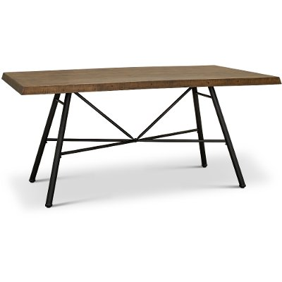 Industrial Pine and Metal Dining Room Table - Flatiron