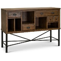 Industrial Pine and Metal Sideboard - Flatiron