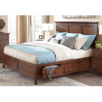 Casual Classic Brown Queen Storage Bed - St. Mortiz