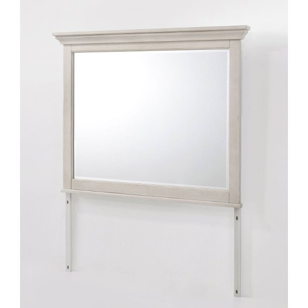 Baby Safe Wall Mirrors 2 ... Clearance Casual Classic Rustic White Mirror - St. Mortiz