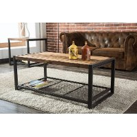 Metal/ Reclaimed Wood Coffee Table - Brixton