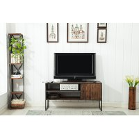 Natural Brown Wooden 50 Inch TV Stand - Brixton