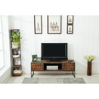 Natural Brown Wooden 60 Inch TV Stand - Brixton