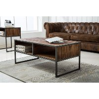 Natural Wood Brown Coffee Table - Brixton