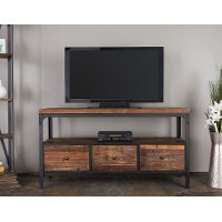 Reclaimed Wood Brown TV Stand (60 Inch) - Brixton