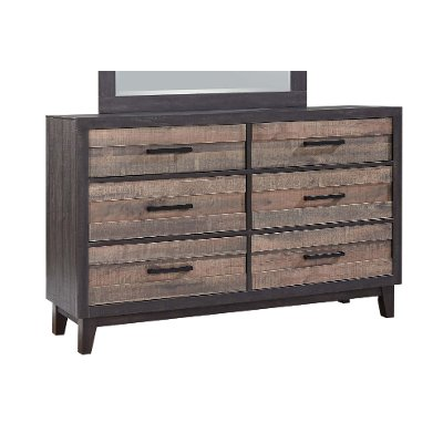 Rustic Industrial Two-Tone Dresser - Tacoma
