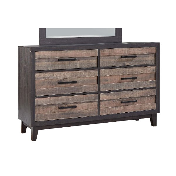 Mayville Brown Cherry Traditional Dresser39999 Rustic Industrial Two Tone  Dresser   Tacoma