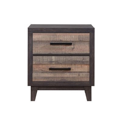 Rustic Industrial Two-Tone Nightstand - Tacoma