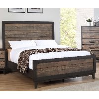 Rustic Industrial 4 Piece Queen Bedroom Set - Tacoma