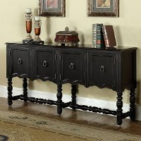 Traditional Burnished Black Console - Charlton