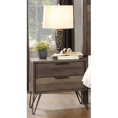 Modern Industrial Gray Nightstand - Urbanite