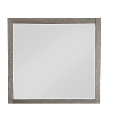 Modern Industrial Gray Mirror - Urbanite