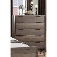 Modern Industrial Gray Chest of Drawers - Urbanite