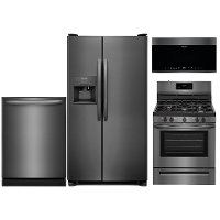 KIT Frigidaire Kitchen Appliance Package with Gas Range - Black Stainless Steel