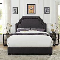 KF705009CL Classic Charcoal Gray Queen Upholstered Bed - Loren
