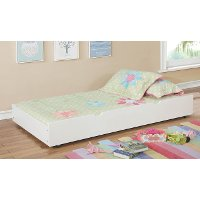 IDF-TR453-WH Classic Contemporary White Twin Size Trundle - Jazzy