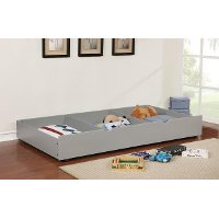 IDF-TR453-GY Classic Contemporary Gray Twin Size Trundle - Jazzy