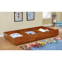 IDF-TR453-A Classic Contemporary Oak Twin Size Trundle - Jazzy