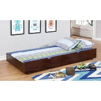 IDF-TR453-EX Classic Contemporary Dark Walnut Twin Size Trundle - Jazzy