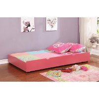 IDF-TR453-PK Classic Contemporary Pink Twin Size Trundle - Jazzy