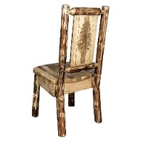 MWGCKSCNLZPINE Country Pine Tree Dining Chair - Glacier Country