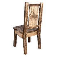 MWHCKSCNSLLZBRONC Rustic Laser Engraved Bronc Dining Chair - Homestead