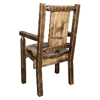 MWHCCASCNSLLZELK Captain's Dining Room Chair with Laser Engraved Elk - Homestead