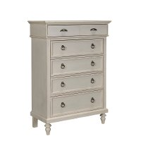 4547-240WHT/CHEST Rustic Casual White Chest of Drawers - Ashgrove