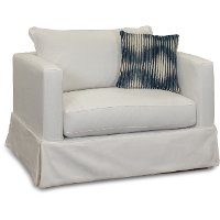 Casual Contemporary White Chair - Barrage