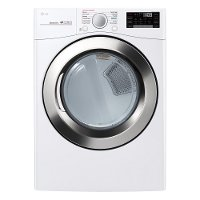 DLGX3701W LG Large Capacity Gas Steam Dryer - 7.4 cu. ft. White