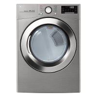 DLEX3700V LG Large Capacity Electric Steam Dryer - 7.4 cu. ft. Graphite Steel