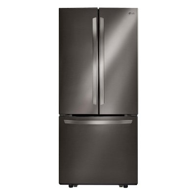 LFCS22520D LG 21.8 cu. ft. French Door Refrigerator - 30 Inch Black Stainless Steel
