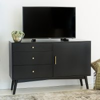 52 Inch Retro Black TV Stand - Angelo