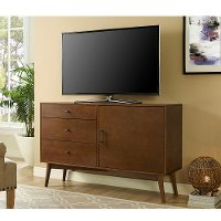 52 Inch Retro Dark Brown TV Stand - Angelo