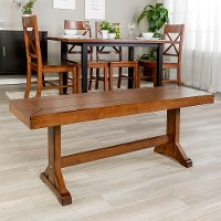 Millwright Antique Brown Wood Dining Bench