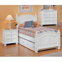 Classic Eggshell White 6 Piece Twin Bedroom Set - Cape Cod