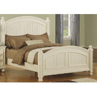 Classic Eggshell White Queen Bed - Cape Cod