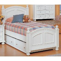 Classic Eggshell White Twin Bed - Cape Cod