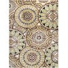 DCO10185x8 5 x 7 Medium Brown, Ivory, and Green Area Rug - Deco