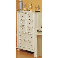 Classic Eggshell White Chest of Drawers - Cape Cod