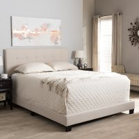 131-7313-RCW Contemporary Beige Full Upholstered Bed - Brookfield