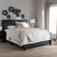 134-7400-RCW Contemporary Charcoal Gray King Upholstered Bed - Brookfield