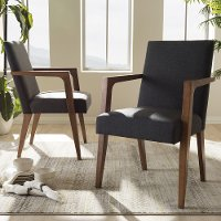 137-2PC-7365-RCW Mid-Century Modern Dark Gray Accent Chair (Set of 2) - Andrea