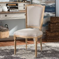 133-7334-RCW Vintage Weathered Oak Upholstered Dining Room Chair - Cadencia