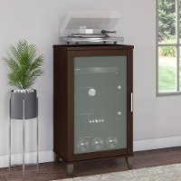 Transitional Cherry Brown Media Cabinet - Somerset
