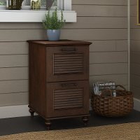 Cherry Brown 2 Drawer Wood File Cabinet