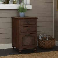 Cherry Brown 3 Drawer File Cabinet - Volcano Dusk