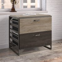 Rustic Gray 2 drawer Lateral File Cabinet - Refinery