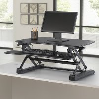 Black Desktop Riser - Sit To Stand